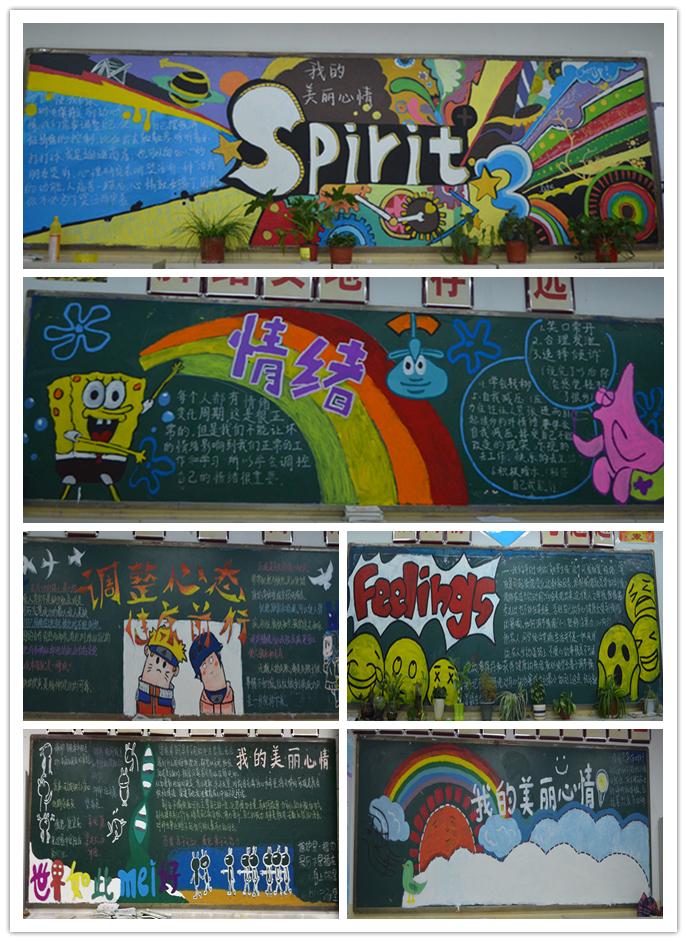 黑板报设计图案大全中学分享展示